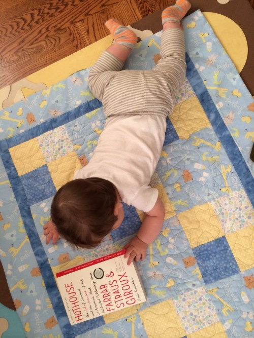 Asher wasn't around for the hardcover release, but prefers the portability of paperbacks anyway.